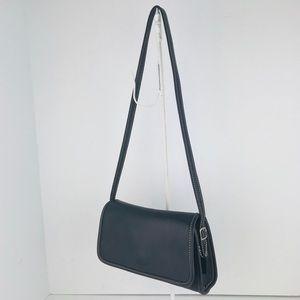 🎁🎄Coach Vintage Leather Flap Crossbody Baguette